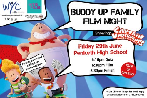 Warrington Youth Club Film Night Buddy Up