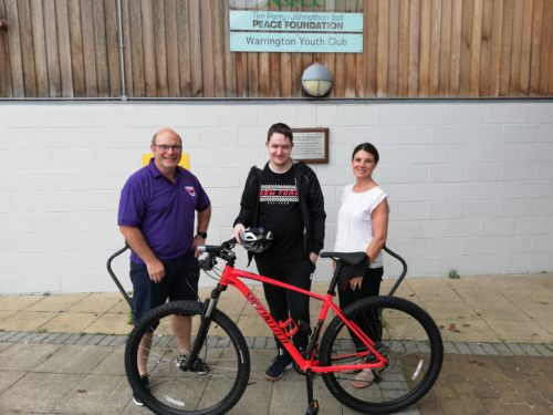 Warrington Youth Club Vimto Bike Donation