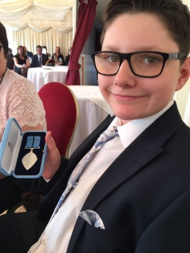 The British Citizen Youth Award presented to Marcus Wilton
