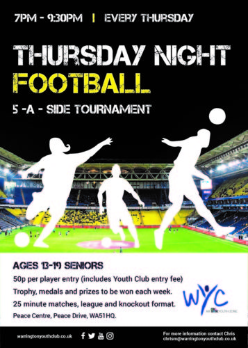 WYC Thursday Night Football - Peace Centre