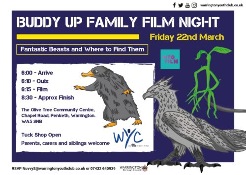 Warrington Youth Club - Film Night - Fantastic Beasts & Where to Find Them