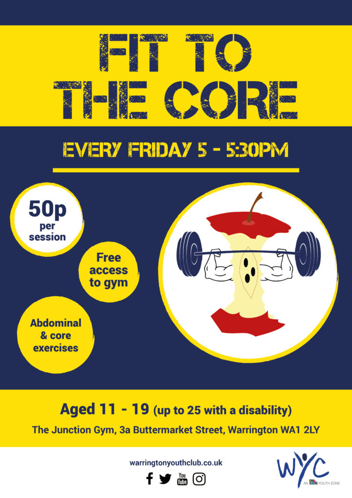 Warrington Youth Club Fit to the Core Sessions