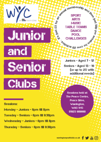 Warrington Youth Club Junior and Senior Club