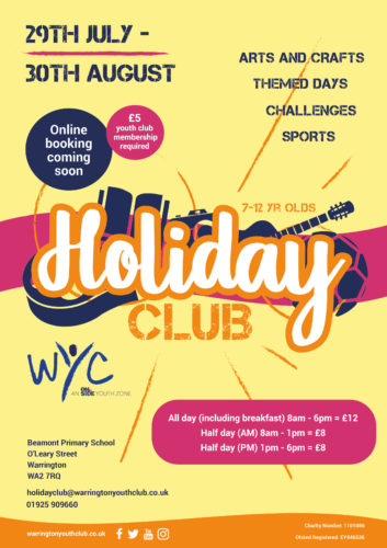 Warrington Youth Club Summer Holiday Club 2019
